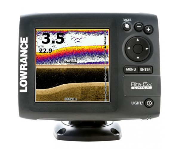 Эхолот Lowrance Elite-5x CHIRP (83/200 455/800)