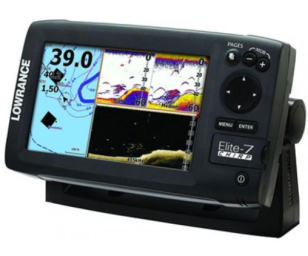 Эхолот-навигатор Lowrance Elite-7 CHIRP (50/200 455/800)