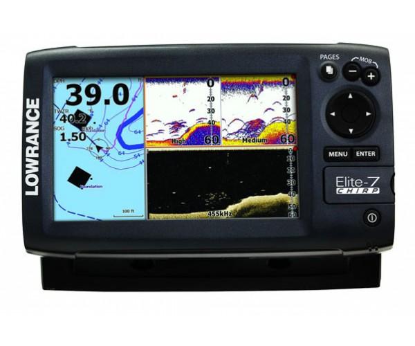 Эхолот-навигатор Lowrance Elite-7 CHIRP (83/200 455/800)