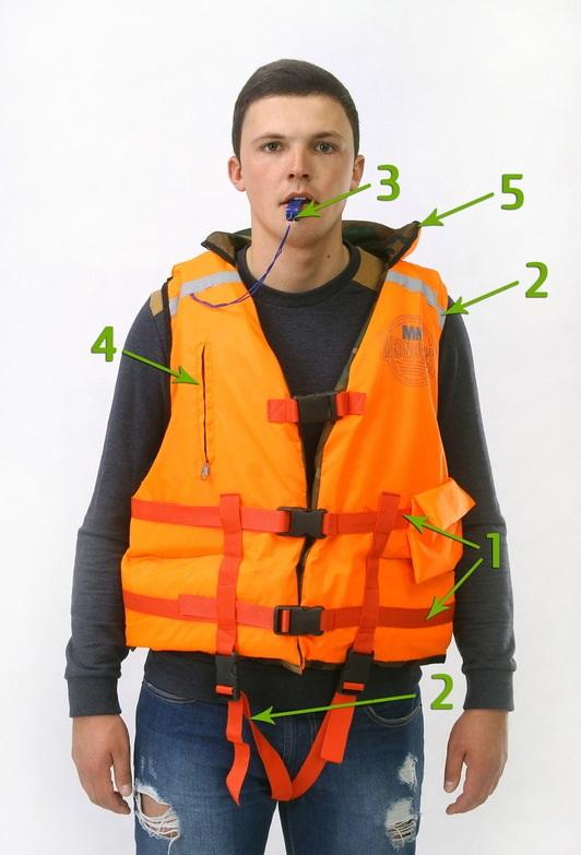 Спасательный жилет двухсторонний 80 кг (РБ)