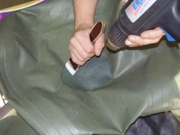 Ремонт надувной лодки